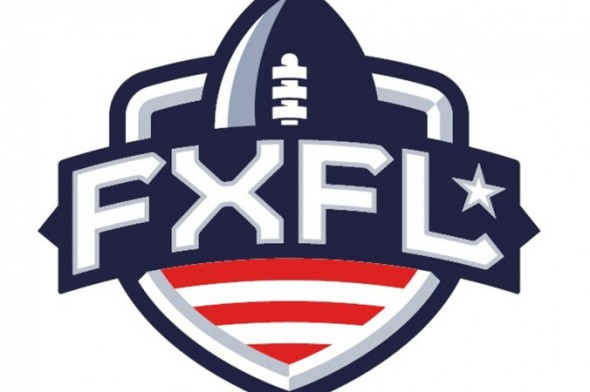 In this image released by the Fall Experimental Football League shows the league's logo. The FXFL plans to launch in October as a developmental league, with no NFL affiliation but with lots of intriguing ideas. Six teams, 40-man rosters, limited salaries, and perhaps no punts, kickoffs or extra-point placements. (AP Photo/Fall Experimental Football League)