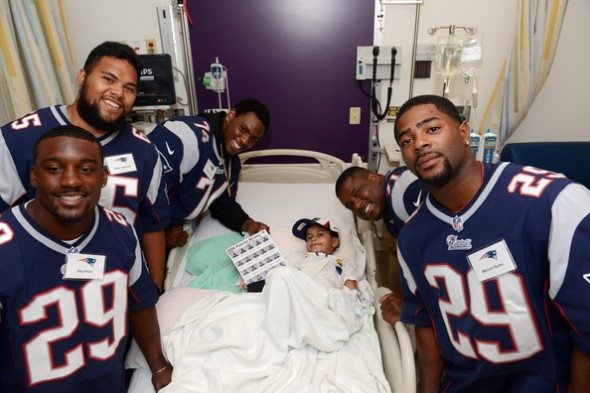 Roy Finch New England Patriots rookies (L to R) Roy Finch, Seal'. New England Patriot Rookies Spread Cheer At Boston Children's Hospital